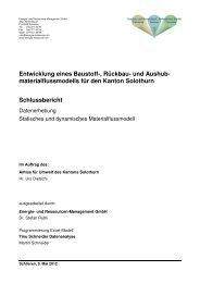 Schlussbericht Modell Kt SO Endversion definitiv - Kanton Solothurn