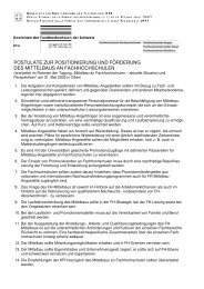 Postulate Mittelbautagung definitiv - KFH