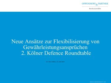 Waffe Vergaberecht - Oppenhoff & Partner