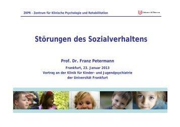 Störungen des Sozialverhaltens - Zentrum für Klinische Psychologie ...