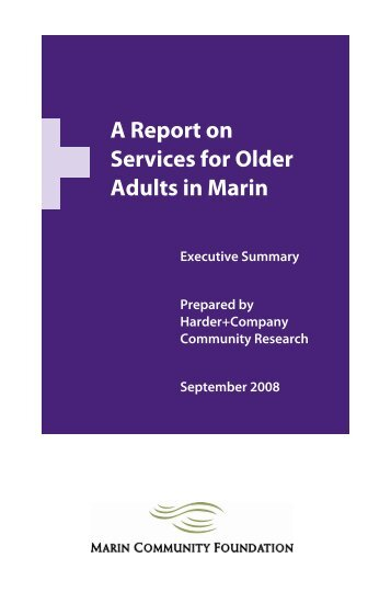 A Report on Services for Older Adults in Marin