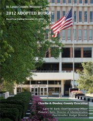 2012 budget summary - St. Louis County