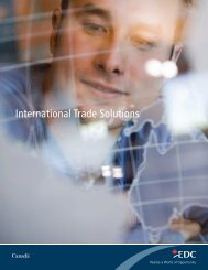 International Trade Solutions – Export Development Canada - EDC