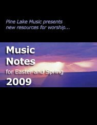 Music Notes 2009 - Pine Lake Music