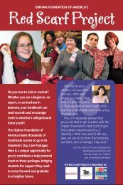 Red Scarf Project brochure - Lily Chin