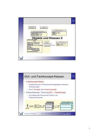 Objekte und Klassen II - Telematik TH Wildau