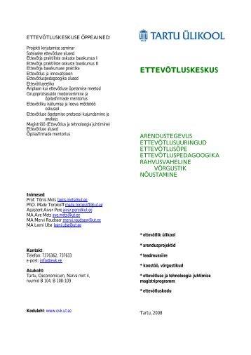 EVK voldik - Tartu Ülikooli Ettevõtluskeskus