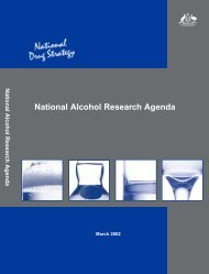 National Alcohol Research Agenda - National Drug Strategy
