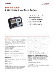 LTW 300 series 2 Wire Loop impedance testers - Surgetek