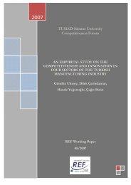 TUSIAD-SabancÙ University Competitiveness Forum - REF