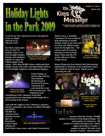 March 2010 newsletter - King of Kings Lutheran Church