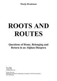 Questions of Home, Belonging and Return in an Afghan Diaspora