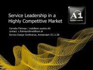 Our Credo: Perfect Service - Service Design Network