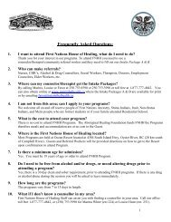 Frequently Asked Questions - Inter Tribal Health Authority