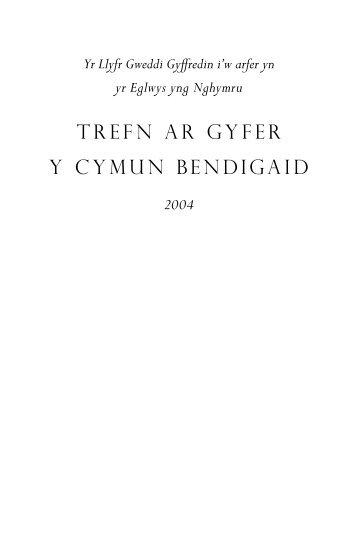 TREFN AR GYFER Y CYMUN BENDIGAID - crucix