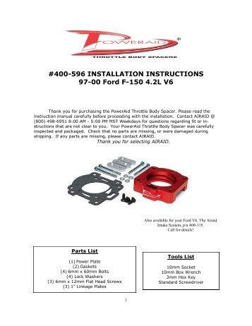 400 542 installation instructions 04 06 ford f airaid rh yumpu com Manuals in PDF User Manual Template