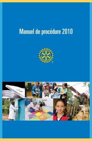Manuel de procédure 2010 - Rotary International