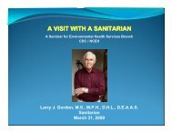PPT - American Academy of Sanitarians