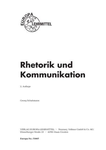 Rhetorik und Kommunikation