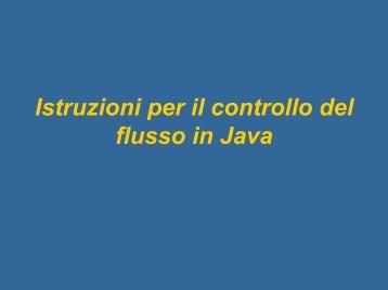 Istruzioni Java