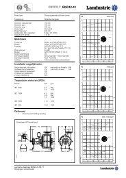 Datasheets BNP42 serie - Landustrie