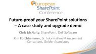 Future-proof your SharePoint solutions – A case ... - Communities