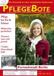 PflegeBote #5 (Dezember 2010 / Januar 2011) PDF - Sozialstation ...