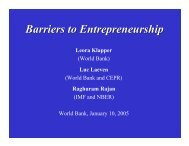 Barriers to Entrepreneurship - World Bank