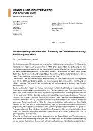 HRM2 definitiv - Handels- und Industrieverein des Kantons Bern