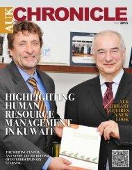 AUK Chronicle May 2013