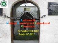 Endoskopik Mukozal Rezeksiyon ve Submukozal Diseksiyon