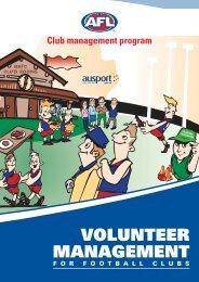 VOLUNTEER MANAGEMENT - AFL Community
