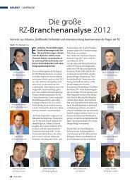 Die große Rz-Branchenanalyse 2012