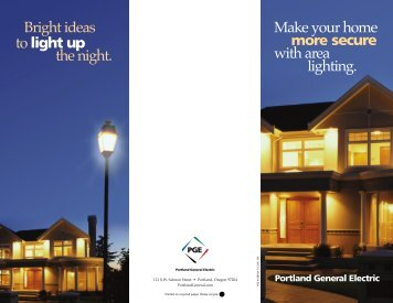 Make your home more secure with area lighting. Bright ideas to light ...