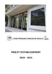 Projet d'établissement - Lycée français Charles de Gaulle