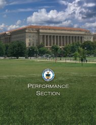 PERFORMANCE SECTION - Department of Commerce