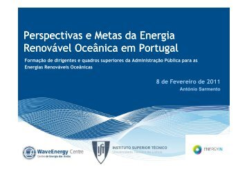 Perspectivas de desenvolvimento do sector - WavEC