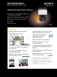 Sony SNC-ER521 CCTV cameras product datasheet