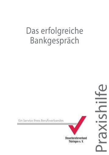 Das erfolgreiche Bankgespräch - Steuerberaterverband Thüringen eV