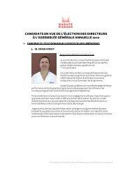 accéder à un document rassemblant le profil et la ... - Karate Canada