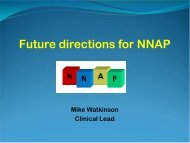 Future directions for NNAP