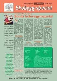 Sunda isoleringsmaterial - introduktion - Novator