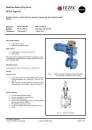 Maxifluss Rotary Plug Valve VETEC Type 82.7