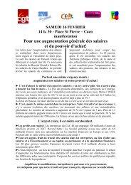 080216 - commun pouvoir d'achat - CFDT Santé Sociaux