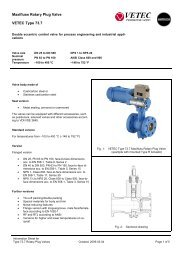 Maxifluss Rotary Plug Valve VETEC Type 73.7