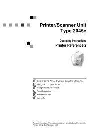 Printer/Scanner Unit Type 2045e - Savin