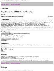 Single Channel Ultra320 SCSI HBA (host bus adapter) - World Wide ...