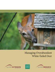 Managing Overabundant White-Tailed Deer - Trinity Waters
