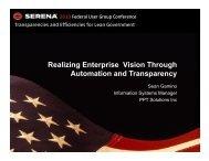 Event Driven Model - Serena Software