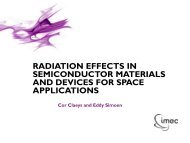 radiation effects in semiconductor materials and devices for space